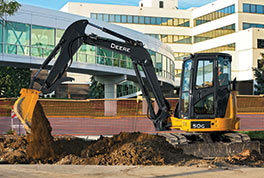 The 50G Compact Excavator is one of the newest models in the G-Series line.