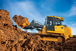 The 605K Crawler Loader is the newest in the K-Series from John Deere.