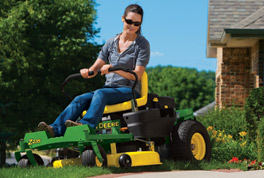 Introducing the two new models in the Z200 Series of John Deere's EZtrak™ zero-turn radius mowers – the Z235 and Z255.